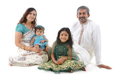 Traditional Indian family Royalty Free Stock Image