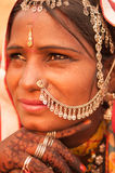 Traditional Indian female portrait Royalty Free Stock Photography