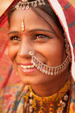 Traditional Indian female smiling Stock Photo