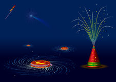 Traditional indian fire crackers for diwali. Illustration Stock Photos