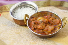 Traditional indian food Butter Chicken Tawa chicken. Served with rice Royalty Free Stock Photos