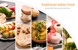 Traditional indian food Royalty Free Stock Images