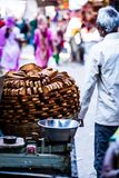 Traditional indian food on the street. Royalty Free Stock Image