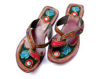 Traditional Indian Footwear Royalty Free Stock Photography