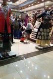 Traditional Indian garment shop in New Market area, Kolkata Stock Photos
