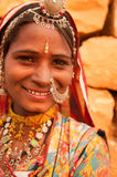 Traditional Indian girl smiling happily Royalty Free Stock Photo