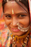 Traditional Indian girl smiling Royalty Free Stock Photo