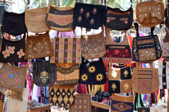 Traditional Indian Handbags Royalty Free Stock Photography