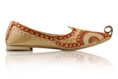 Traditional Indian Handicraft shoes Stock Photos