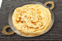 Traditional indian home made roti chapati paratha Royalty Free Stock Photo