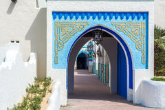 Traditional indian house entrance. Door stock photography