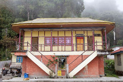 Traditional indian house, Sikkim, India Royalty Free Stock Photography
