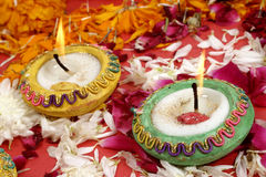Traditional Indian lamps- Diwali Royalty Free Stock Photos
