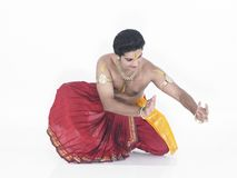 Traditional indian male dancer Stock Photos