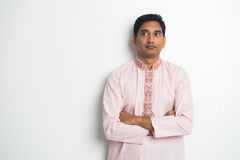 Traditional indian male thinking Stock Image