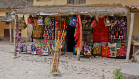 TRADITIONAL INDIAN MARKET,PERU Royalty Free Stock Images