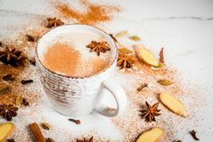 Traditional indian masala chai tea royalty free stock photo