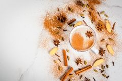 Traditional indian masala chai tea royalty free stock photography