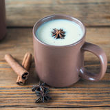 Traditional Indian Masala tea. Spiced tea with milk. Square Royalty Free Stock Photos