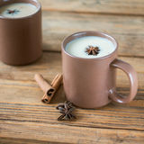 Traditional Indian Masala tea. Spiced tea with milk. Square Stock Images