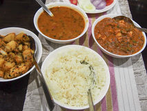 Traditional Indian Meal. A traditional Indian dinner served Royalty Free Stock Image