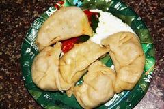 Manali,Himachal Pradesh:Traditional Indian and Nepal Food royalty free stock image