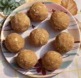 Traditional Indian pinni/ Dessert Stock Photos