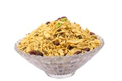 Traditional indian sargam namkeen with peanuts Stock Image
