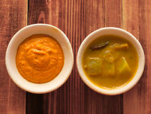 Traditional indian sauces Stock Image