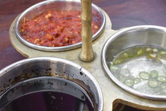 Traditional indian sauces. With pepper Stock Image
