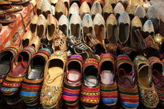 Traditional Indian shoes for woman Stock Photography