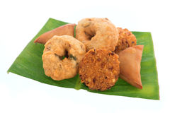 Traditional Indian snack platter Royalty Free Stock Photos