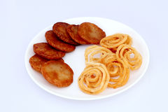 Traditional Indian snacks Royalty Free Stock Photography