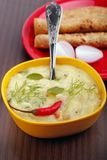 Traditional indian spicy daal curry and chapatti Royalty Free Stock Photography