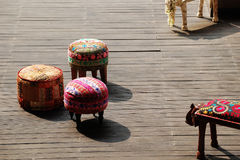 Traditional Indian Style Stool Stock Image