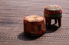 Traditional Indian Style Stool Royalty Free Stock Image