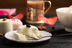 Traditional Indian sweet Sandesh Royalty Free Stock Image