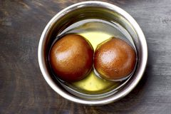 Traditional indian sweets Gulab Jamun. In syroup Royalty Free Stock Images