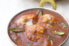 Traditional indian tikka Prawn Vindaloo. With pepper Royalty Free Stock Photo