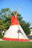Tipi, traditional indian tent. Traditional indian tipi, in front of Buffalo Bill Museum in Cody, Wyoming, USA royalty free stock photography