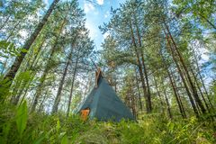 Traditional Indian tipi (teepee) house Royalty Free Stock Image