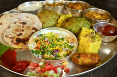 Traditional Indian vegeterian platter Royalty Free Stock Photos