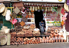 Traditional Indian Wares Vendor Stock Photography