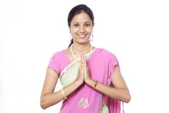 Traditional Indian woman Stock Photo