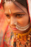 Traditional Indian woman portrait Royalty Free Stock Image