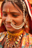 Traditional Indian woman smiling Stock Photography