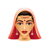 Traditional indian woman  on white vector Stock Photos