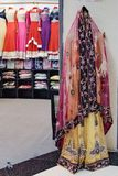 Traditional Indian women`s clothing for sale Royalty Free Stock Photography
