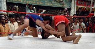 Traditional Indian Wrestling Stock Photos