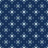 Traditional Indigo Blue Japanese Seamless Vector Pattern. Quilting Fabric Style stock illustration
